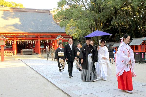 住吉神社での参進の儀