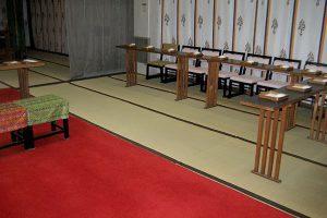 住吉神社の神前結婚式場ご両家席