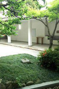 護国神社の結婚式控室からみた庭園