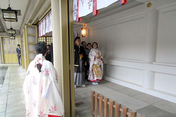 福岡縣護国神社の結婚式参進