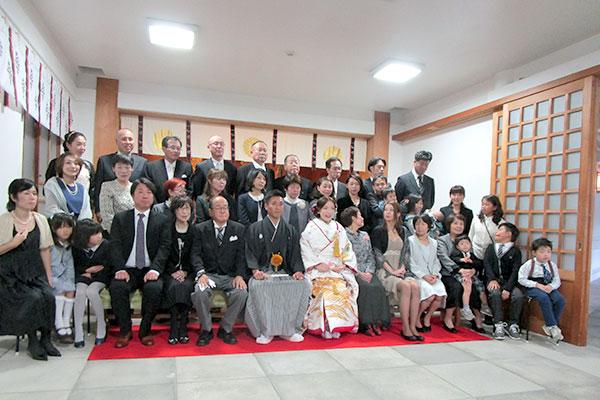 福岡縣護国神社の本殿結婚式