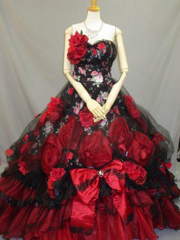 赤のカクテルドレス(福岡博多の結婚式衣装レンタル)