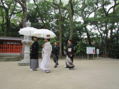福岡 住吉神社での参進の儀