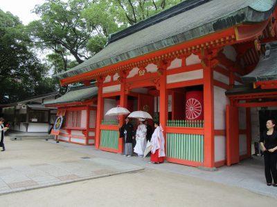 福岡 住吉神社の楼門(神社挙式)