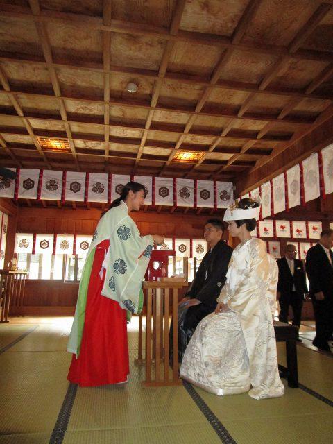 十日恵比須神社での挙式