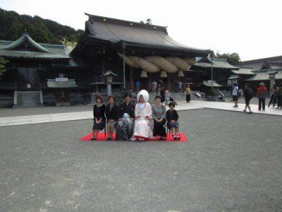 宮地嶽神社での集合写真
