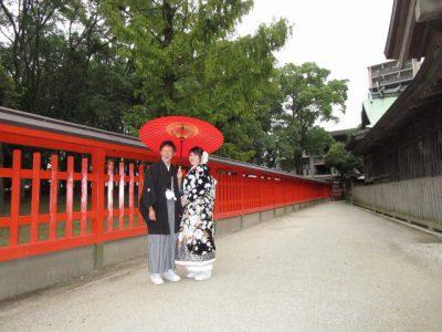 十日恵比須神社で色打掛