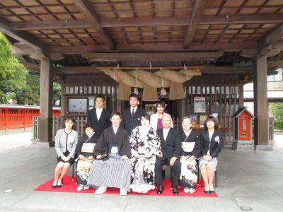 十日恵比須神社で集合写真