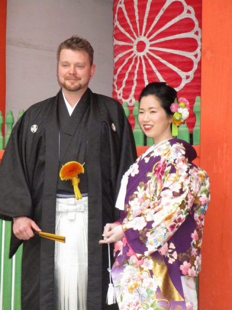 住吉神社で国際結婚