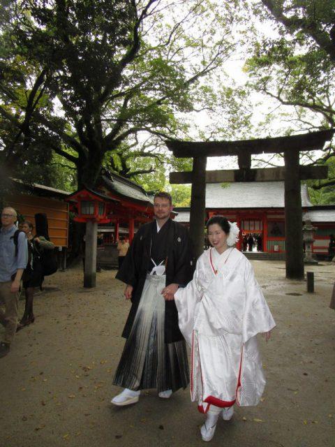住吉神社で白打掛