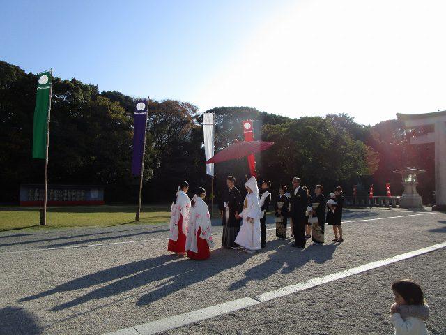 福岡護国神社での参進の儀