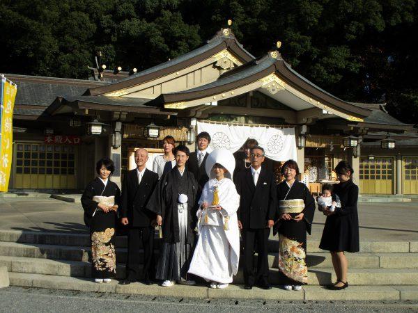福岡護国神社で集合写真