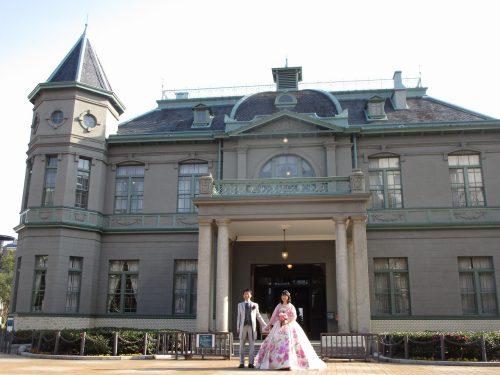 福岡県公会堂(貴賓館)での洋装撮影
