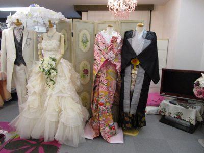 福岡市内の衣裳サロン(和装と洋装)1