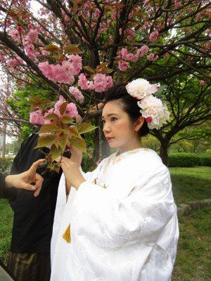 舞鶴公園 結婚式 白無垢 前撮り