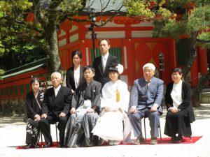 福岡の住吉神社 神社挙式集合写真