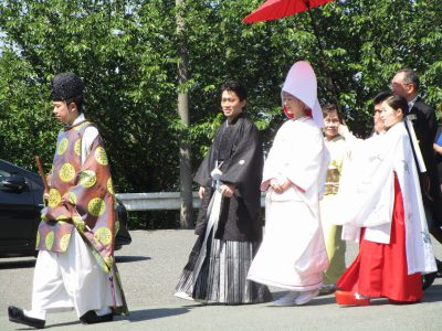 宮地嶽神社での神社挙式